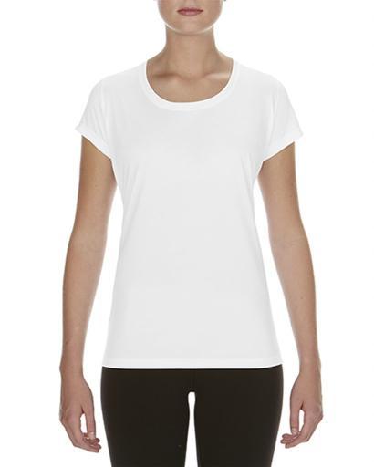 Biała koszulka damska Gildan Performance