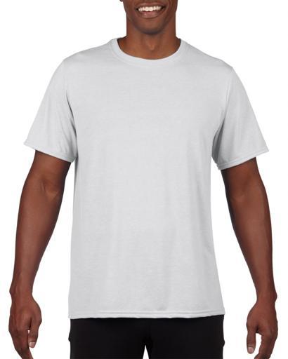 Klasyczna biała koszulka techniczna marki Gildan