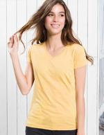 Damski T-shirt V-neck 145g marka JHKJ