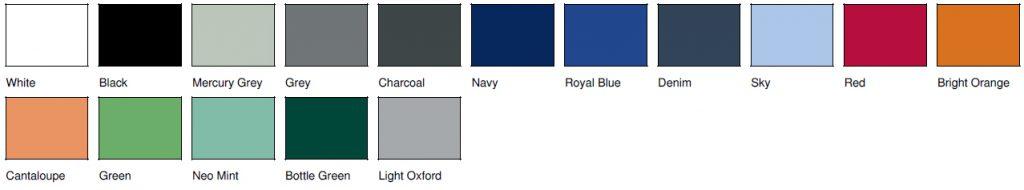 kolory bluz rozpinanych SG
