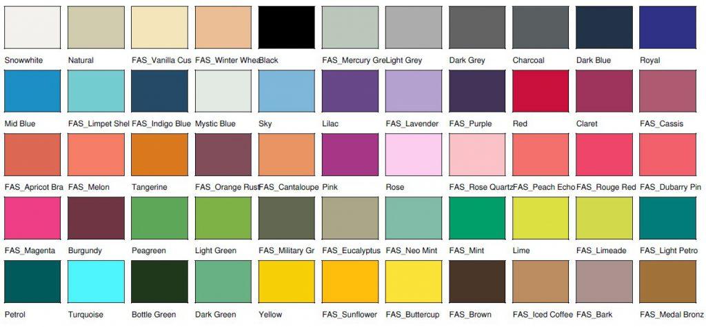 Kolory toreb bawełnianych z długimi uchwytami 55 kolorów