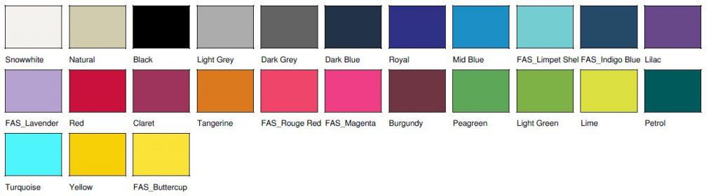 Kolory toreb bawełnianych do nadruku