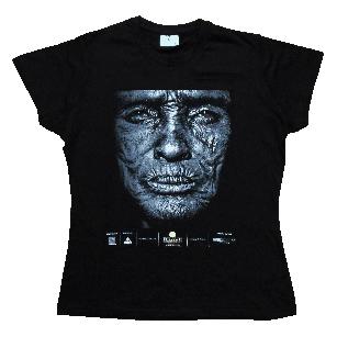 Koszulki czarne z wielokolorowym nadrukiem na festiwal BRAVE