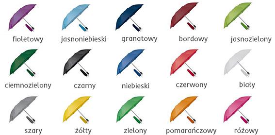 kolory parasoli manualnych