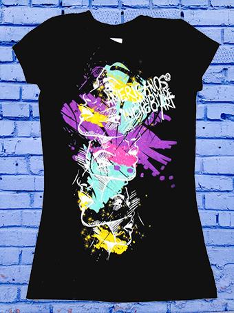 t-shirt aufdruck - discharge