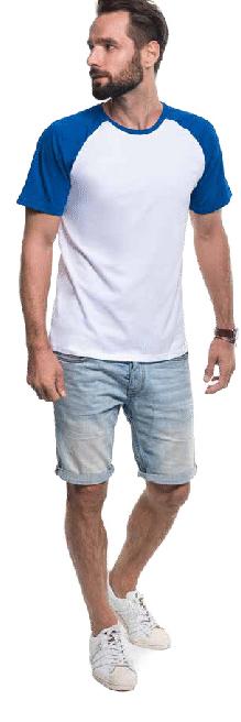 Koszulki męskie Promostars Cruise z kontrastowymi rękawkami