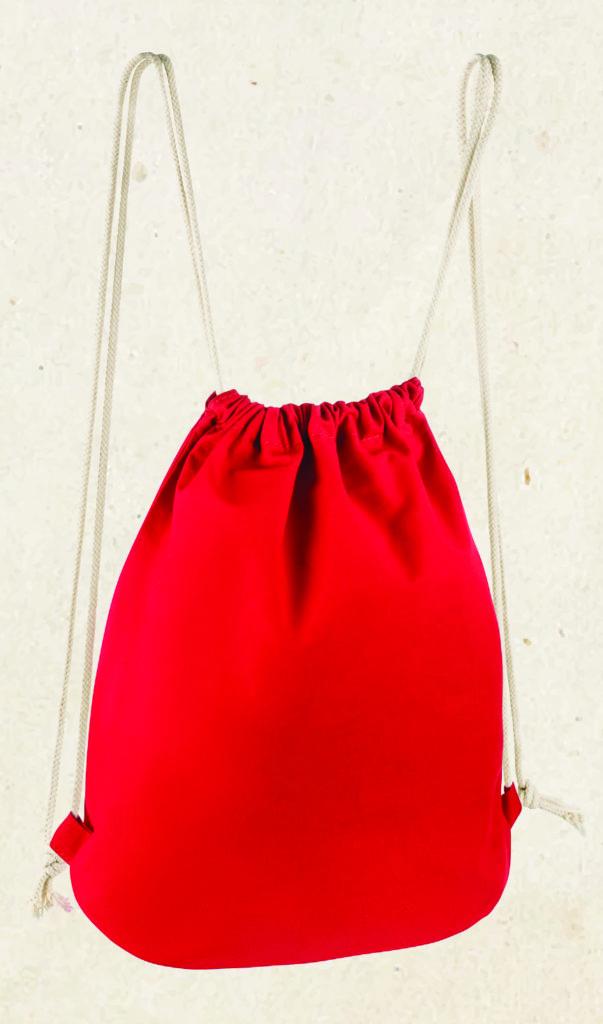 zdjęcie czerwonego worka ze sznurkami