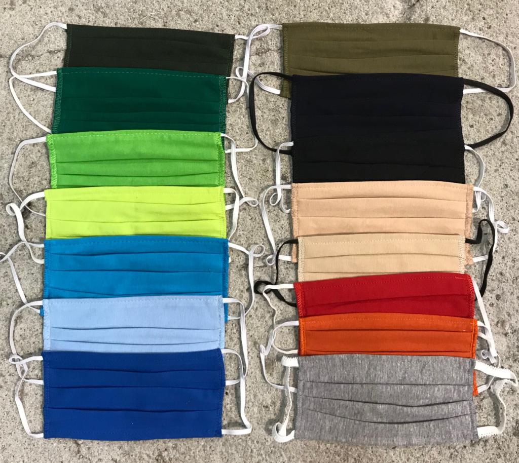 Maski bawełniane z kolorowej bawełny