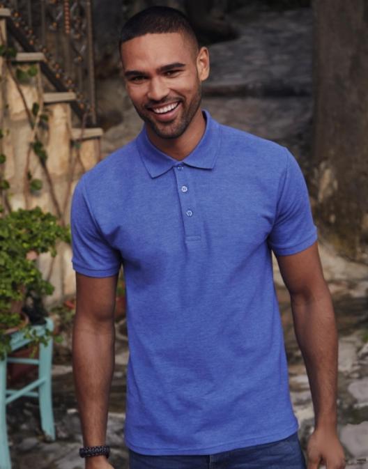 Męska koszulka polo z włókien mieszanyc